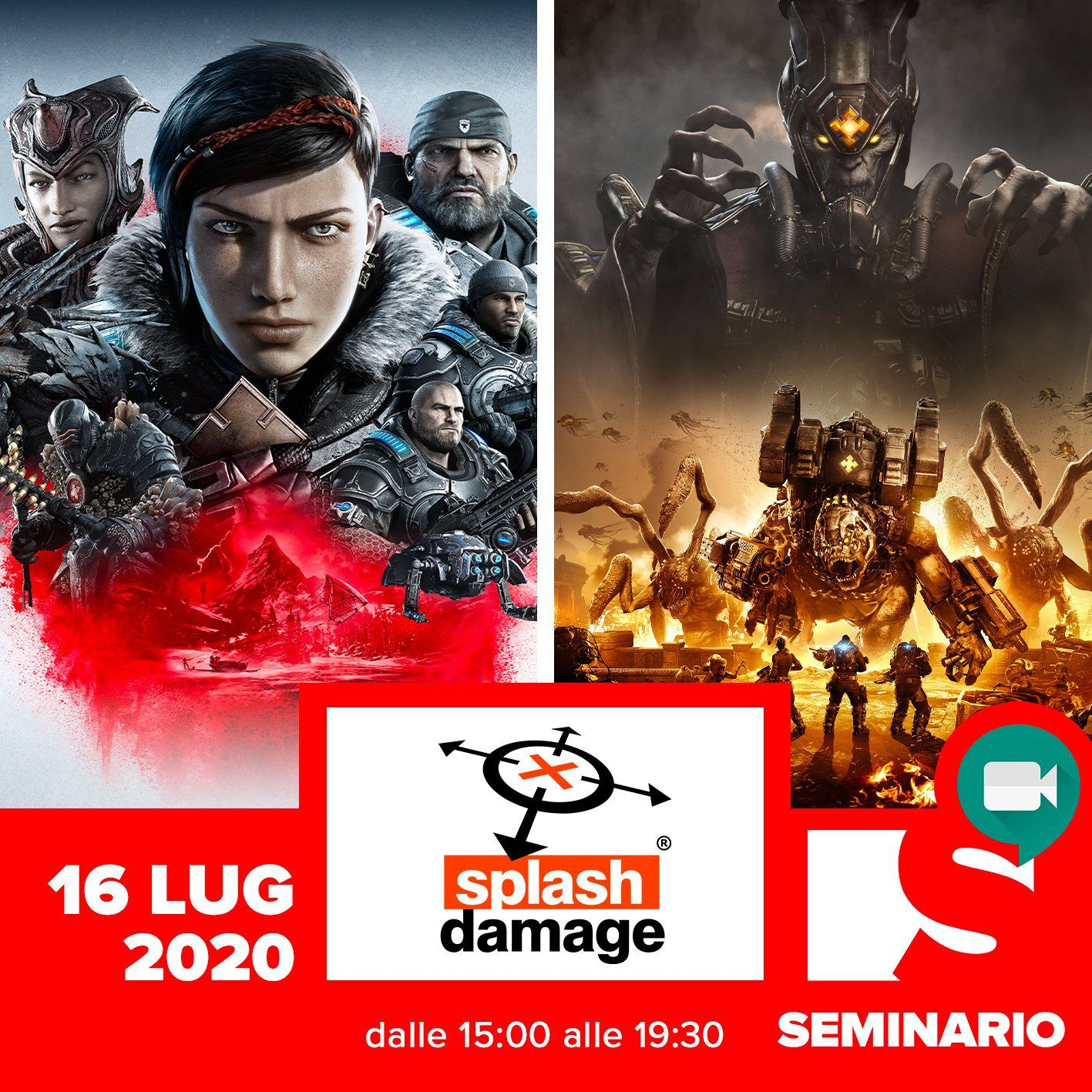 SEMINARIO – SPLASH DAMAGE <br> Career Day